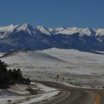Sangre de Cristo Mountains in winter