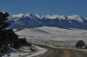 Sangre de Cristo Mountains in winter